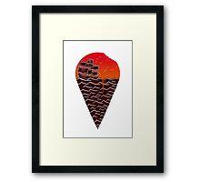 Sunset Ice Cream Framed Print
