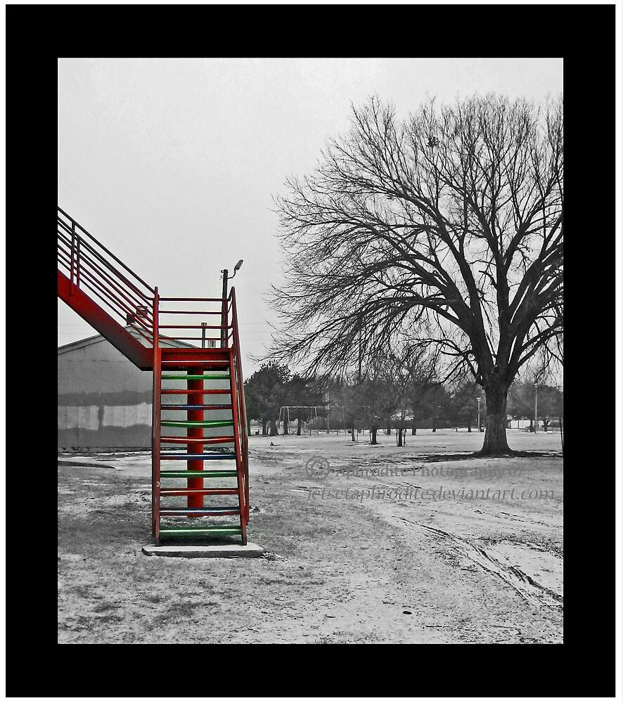 stair plus tree by JetsetAphrodite