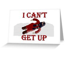 A Christmas Story - I Can't Get Up Greeting Card