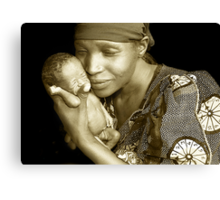 'Mother and child' Northern Rwanda. By Rebecca Zachariah & Melinda Kerr Canvas Print