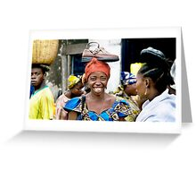'Shoe Woman', Democratic Republic of Congo Greeting Card