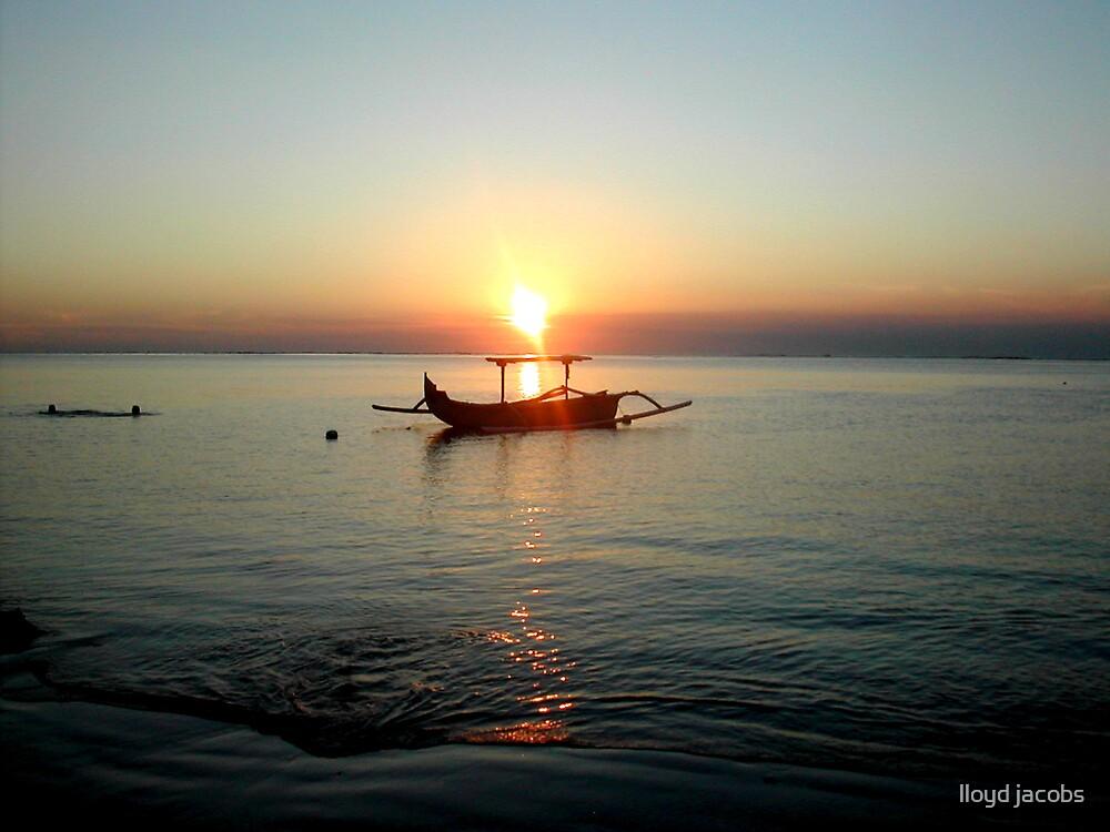 """Indo Sunset"" Kuta beach Bali by lloyd jacobs"