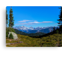 Country mountain view Canvas Print