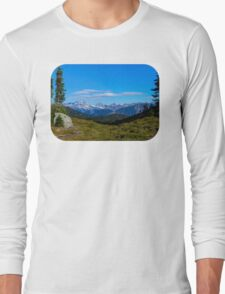 Country mountain view Long Sleeve T-Shirt