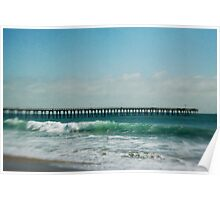Teal blue pacific ocean Poster
