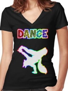 Dancer Fur 2 Women's Fitted V-Neck T-Shirt