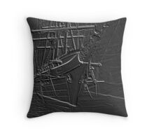 Grey Stone Throw Pillow