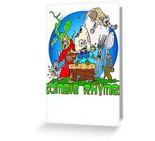 Zombie Nursery Rhymes Greeting Card
