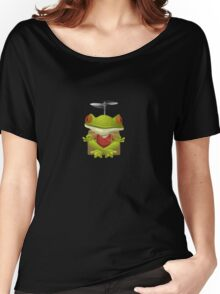 Glitch NPC Inhabitants Yoga Frog Red Women's Relaxed Fit T-Shirt