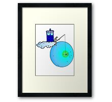 Doctor Who fishing Framed Print