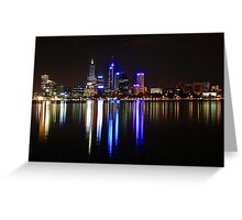 Perth The City Of Lights Greeting Card