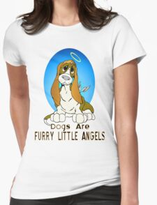 Dogs are Angels Womens Fitted T-Shirt