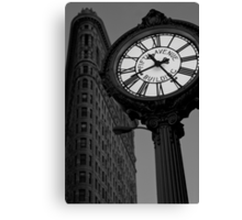 Tiffany Clock Canvas Print