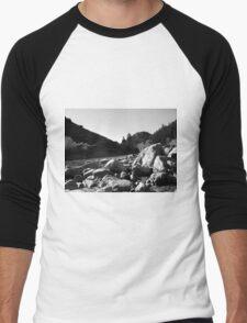 Black And White Landscape 4 Men's Baseball ¾ T-Shirt