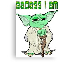 Badass Yoda Canvas Print