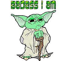 Badass Yoda Photographic Print