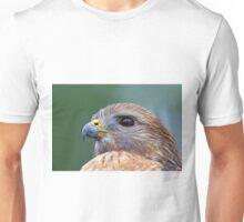 Hawk Profile with Eye Reflection Unisex T-Shirt