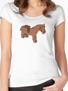 Toy Brick Horse Women's Fitted Scoop T-Shirt