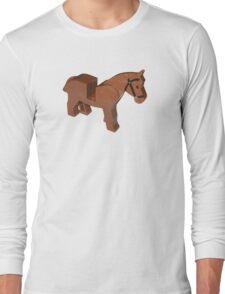Toy Brick Horse Long Sleeve T-Shirt