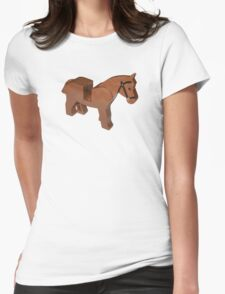 Toy Brick Horse Womens Fitted T-Shirt