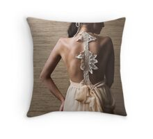 Model back Throw Pillow