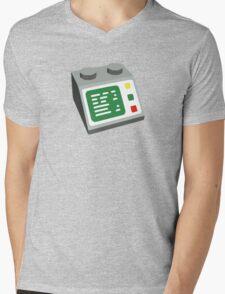 Toy Brick Computer Console Mens V-Neck T-Shirt