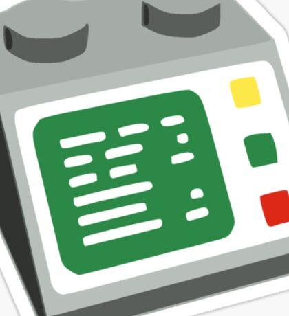 Toy Brick Computer Console Sticker