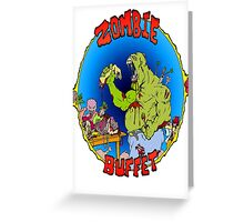 Zombie Buffet Greeting Card
