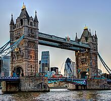 Tower Bridge And The City 2 - HDR by Colin J Williams Photography