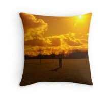 Kite Preparation Throw Pillow