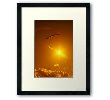 Parachuting Sun Framed Print