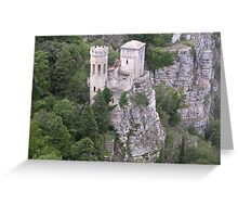 castle of erice Greeting Card