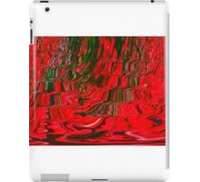 Red and Green Flowing Ribbon Design Pattern Holiday Christmas iPad Case/Skin