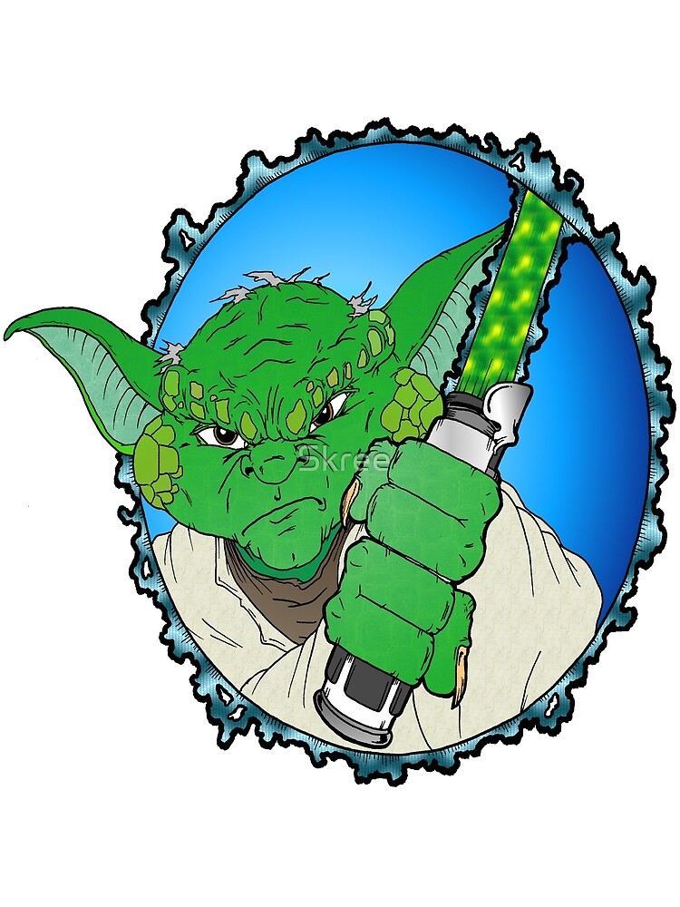 Yoda Ready to duel by Skree