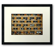 Busy wall Framed Print