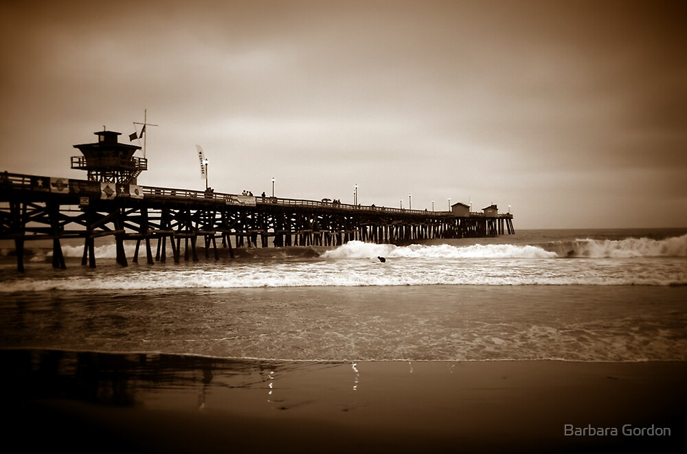 San Clemente Pier by Barbara Gordon