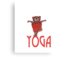 Yoga Bear in Tree pose Canvas Print