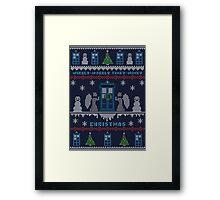 Wibbly Wobbly Timey Wimey Christmas Framed Print