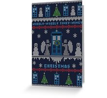 Wibbly Wobbly Timey Wimey Christmas Greeting Card