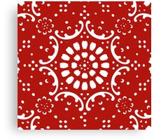 red background  Canvas Print