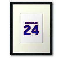 National Hockey player Derek Boogaard jersey 24 Framed Print