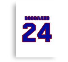 National Hockey player Derek Boogaard jersey 24 Canvas Print