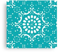 Turquoise background Canvas Print