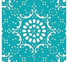 Turquoise background Photographic Print