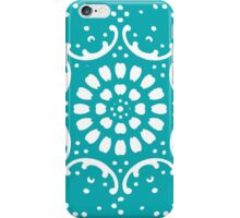 Turquoise background iPhone Case/Skin