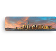 Panoramic of Downtown Manhattan Canvas Print