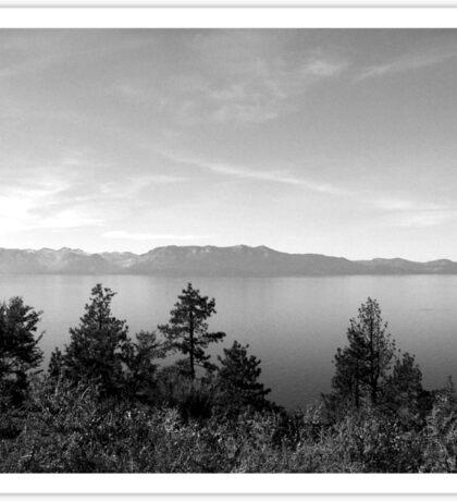 Black And White Landscape 9 Sticker