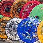 Myanmar. Bagan. Colorful Parasols. by vadim19