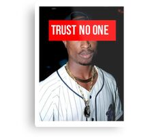 2PAC Trust No One face Supreme Metal Print