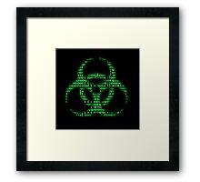Binary Biohazard (Green) Framed Print